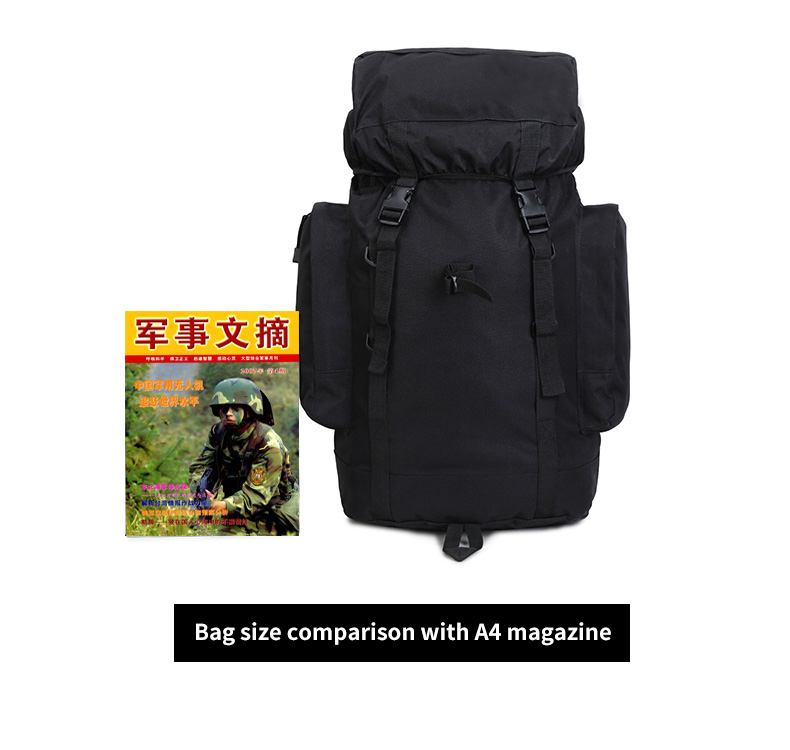 Hiking Backpack Waterproof Camo Large 70 Liter Military Backpack Bag Hiking For Combination