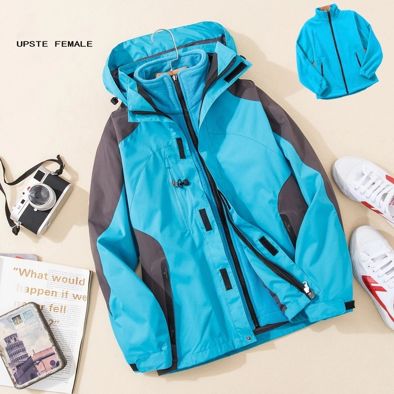 Detachable Liner Custom Logo Ski Jacket 3000mm Waterproof Winter Women Ski Jacket for Hiking Rain