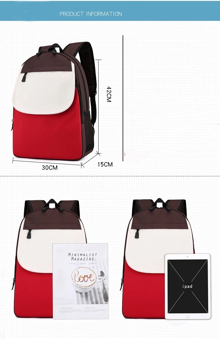 Simple Customized Logo School Backpack Bag Remedial Training Class Backpack