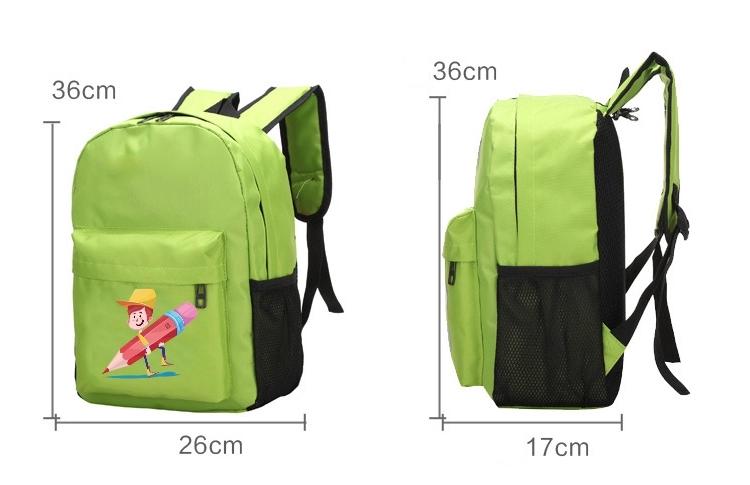 Wholesale Custom Logo Print Cute Girl Boy Kids Kindergarten Backpack School Bags