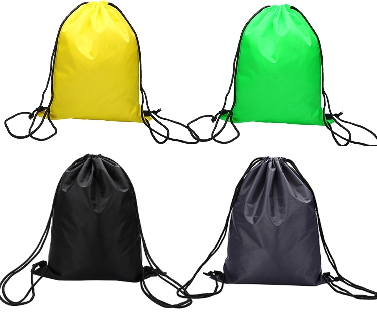 Promotional Custom Logo Sport Gym Reflective Drawstring Cinch Bag