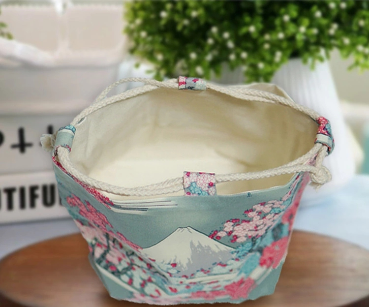 Vintage Creative Embroidery Handmade Storage Cosmetic Drawstring Bag