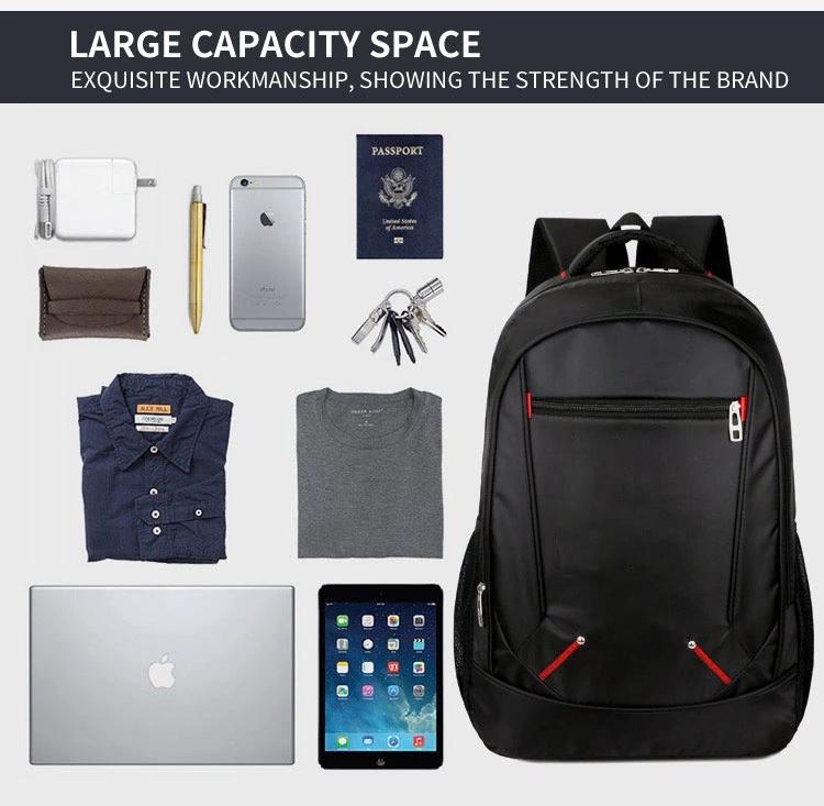 Wholesale Fashion Black Travel Backpack Men Bags for Laptop backpack