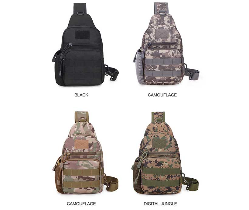 Tactical Chest Bag Multi-Functional Cycling Outdoor Sports  Small Pack Single Shoulder Camo Chest Bag