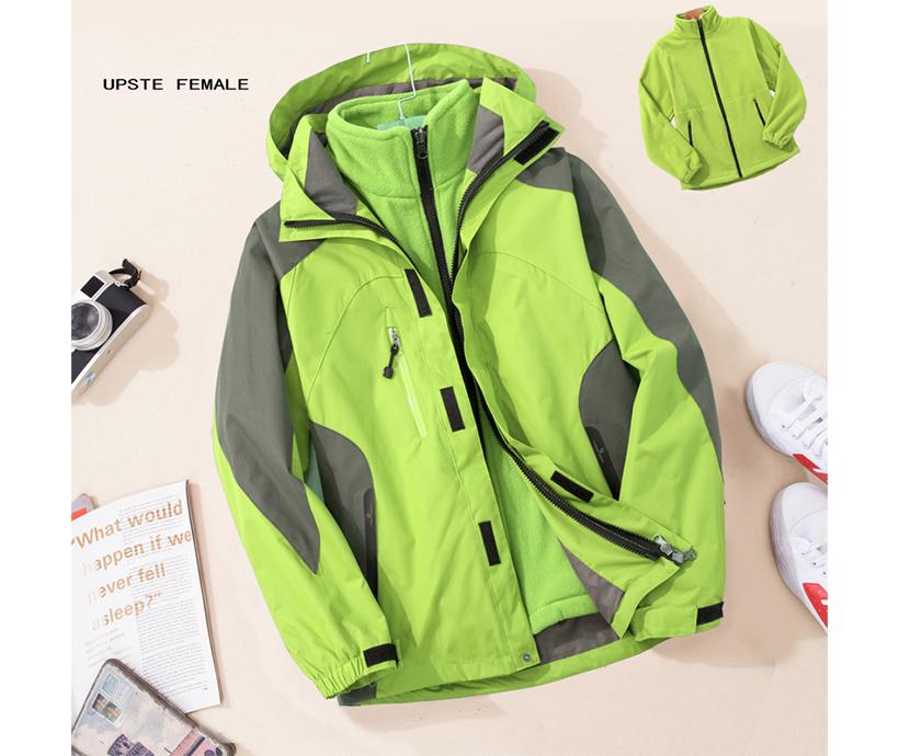 Detachable Liner Custom Logo Ski Jacket 3000mm Waterproof Winter Women Ski Jacket for Hiking Rain
