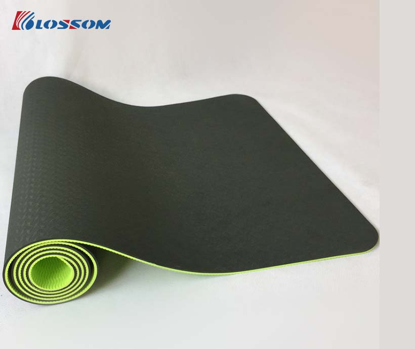 Wholesale Eco Friendly Dropship Custom 6mm Double Layer TPE Yoga Mat With Logo