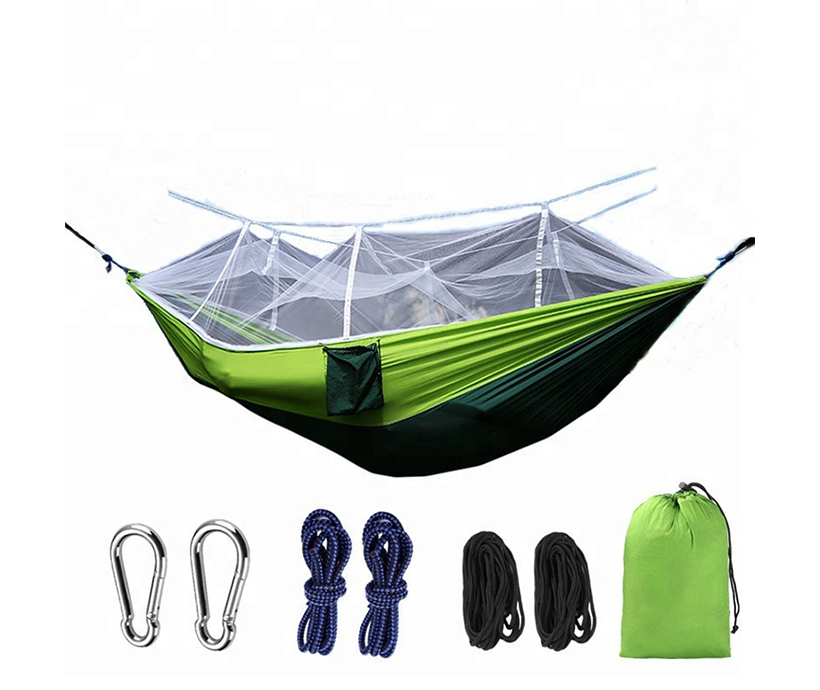 Fashion camping hammock with mosquito net camping hammock tent camping hammock double