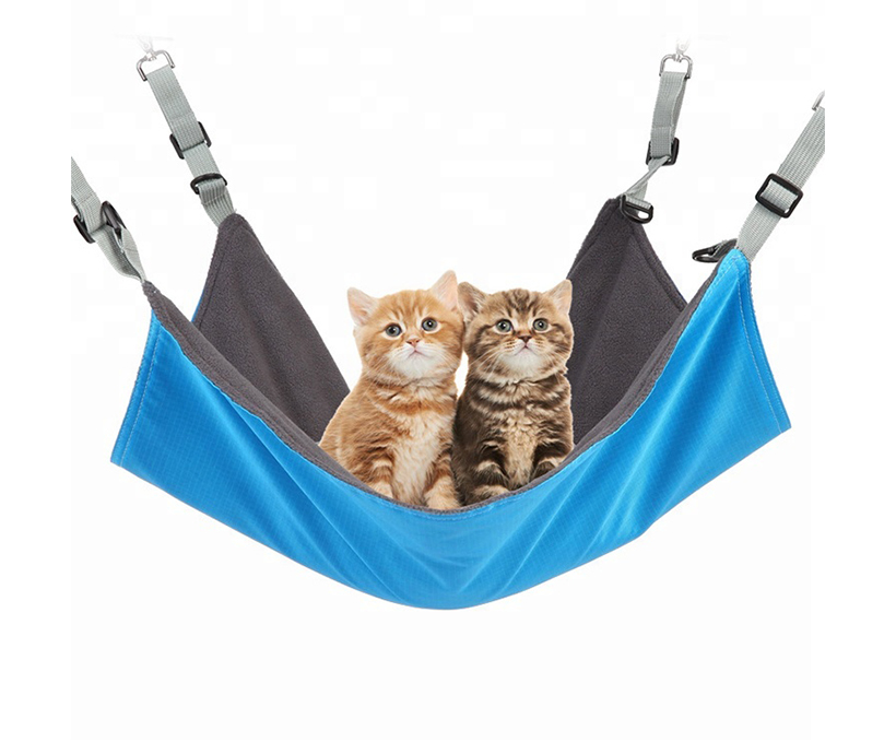 Carabiner indoor soft covered hanging pet sleeping bed pet hammock bed for cage