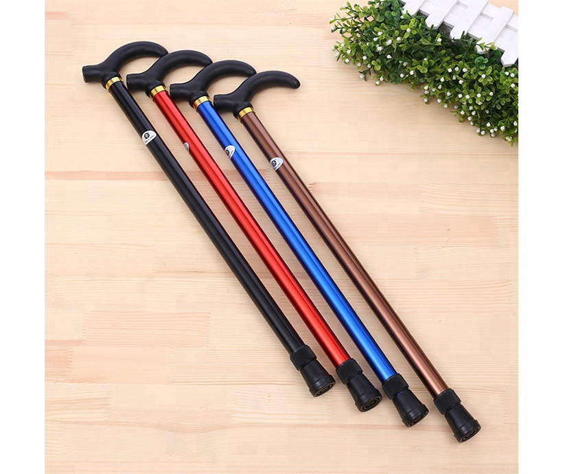 Aluminum alloy two 6 - speed telescopic cane walking stick climbing stick old man rod length can be adjusted
