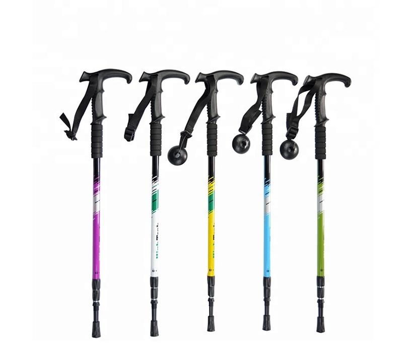 trekking poles hiking foldable walking sticks sticks for nordic hiking poles walking trekking stick