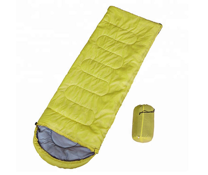 Outdoor camping hiking sharp corner polyester cotton sleeping bag