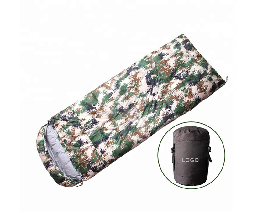 Camouflage single sleeping bag Outdoor Portable Double Adventure Camping Hiking Sleeping Bag