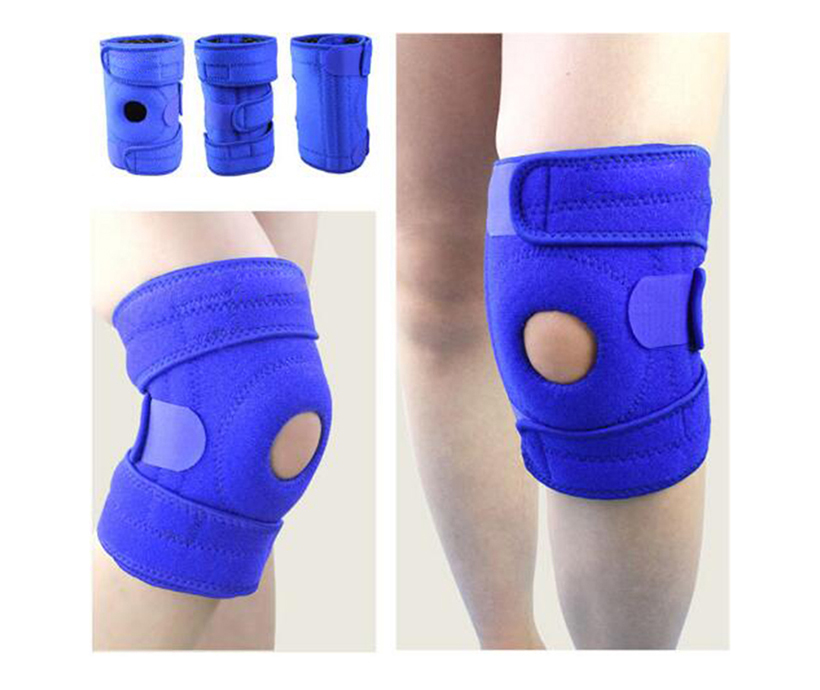 Knee Support With Adjustable Strapping Breathable Silicone Sleeve Meniscus Tear Support, Open-Patella Stabilizer Knee Brace