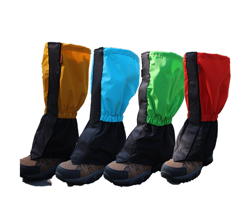 Rubber Waterproof Fabric Sleeve Shin Guards Safety Protective Custom Climbing Snowing