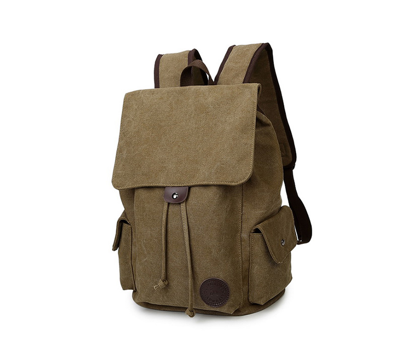 Custom 17 inch Laptop Adjustable Shoulder Traveling Mountaineering Business School Boys' Large Carrying Canvas Backpack