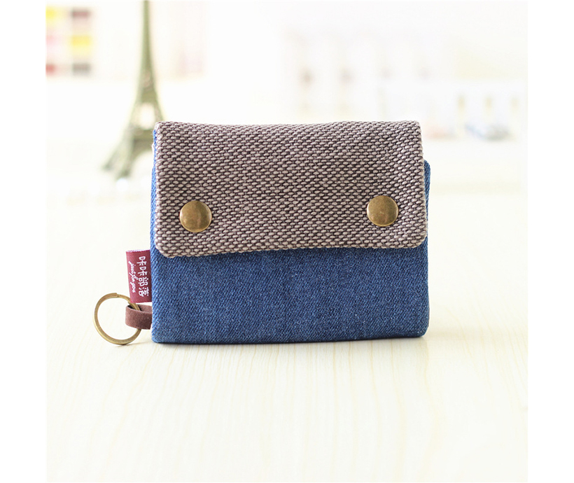 New Trendy Lovely Canvas Men's And Women's Small Wallet Wholesale Multi-function Key Bag