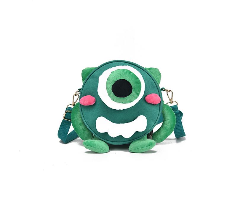 New Personality Cartoon Schoolbag Kindergarten Children's Cute Canvas Eye Backpack