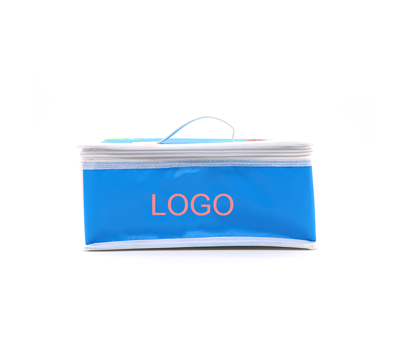 Custom Portable Limated Non-woven Outdoor Picnic Thermal Cooler Tote Lunch Bag