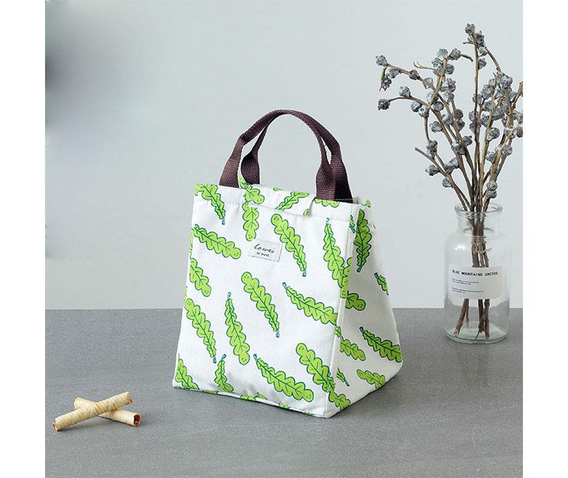 Waterproof Zipper Student Lunch Box Bags Cooler Heat Preservation Bag
