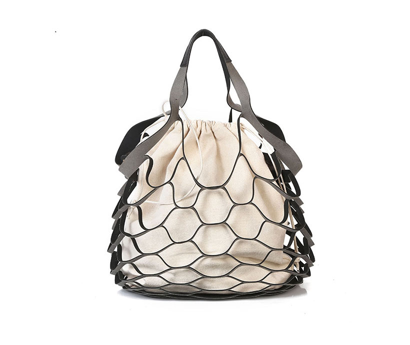 Wholesale Custom Woman Hot Korean Fishnet Shoulder Bag Handbag Hollow Beach Bag