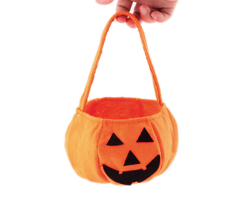 Custom Party Pumpkin Halloween Costumes Decoration Candy Bucket Bag for Kids