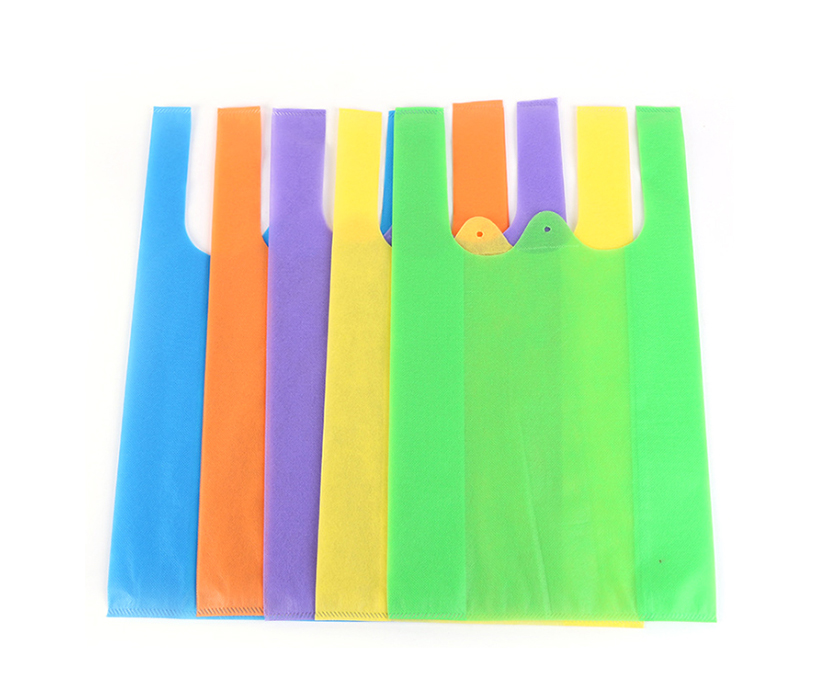 Cheap Foldable Custom Cheap Grocery Shopping Non Woven T-shirt Tote Bag