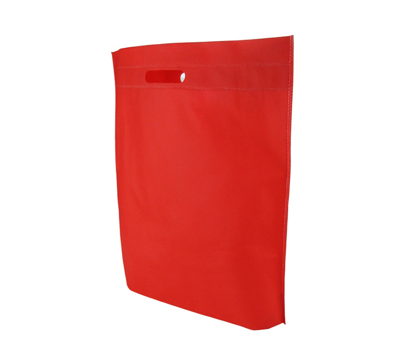 Promotional Custom Heat Seal Exhibition Non Woven Cut-Out Handle Tote Bags