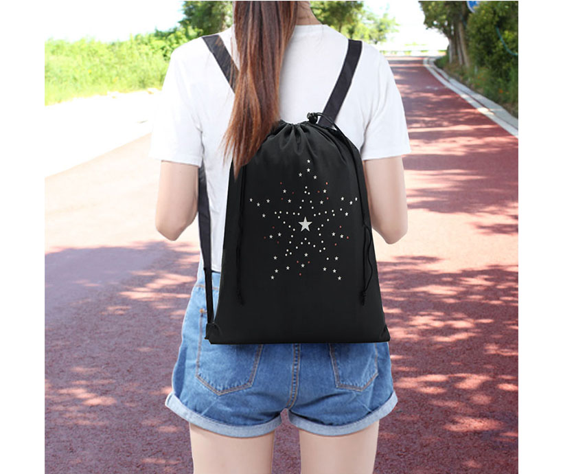 New Foldable Simple Leisure Student Drawstring Backpack