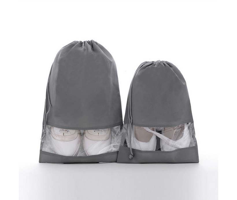 Customized Non-woven Travel Shoes Storage Dust Bag Drawstring Bag