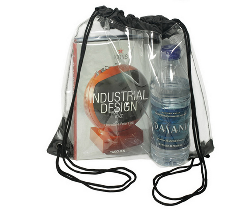 Custom Transparent PVC DrawString Backpack Waterproof Student Sports Fitness Backpack