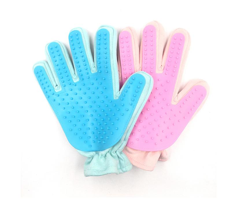 2018 New Design Upgrade Pet Grooming Glove Custom Logo