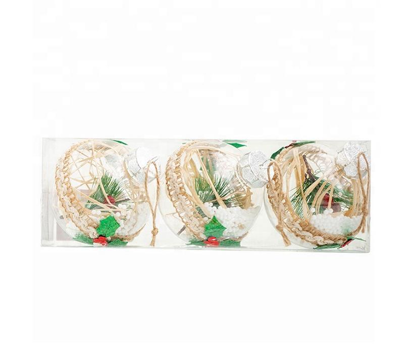 Unique Tree Pendant Party Gift Birthday Christmas Decoration PET Round Transparent Ball