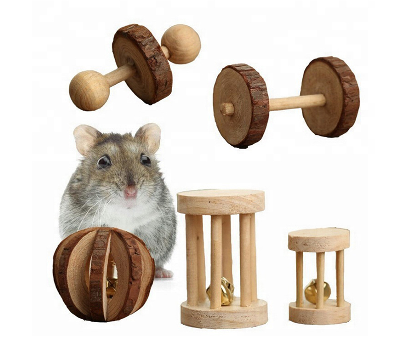 Fun and Healthy hamster Bird Dog Toy Wooden Pet Toy Grinding Supplies