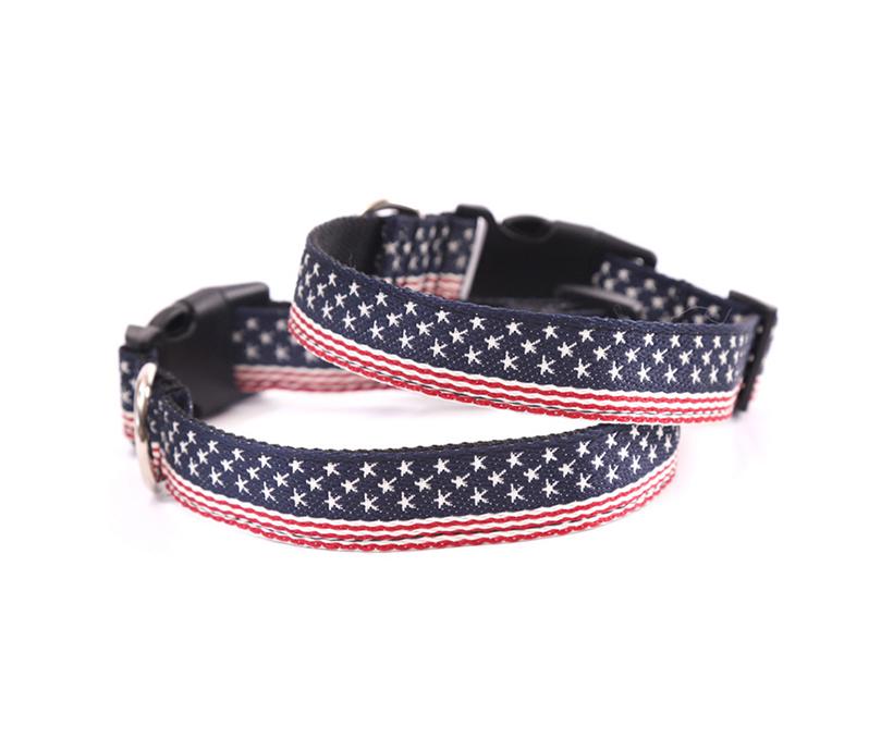 Soft Pet Necklace Nylon Strap Dog Collar With Adjustable Plastic Clip