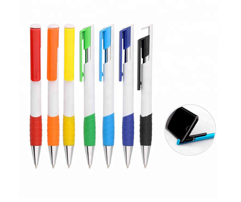 Multi Color Custom Logo Printed Phone Holder Ball Pen Refill Ballpoint Pen