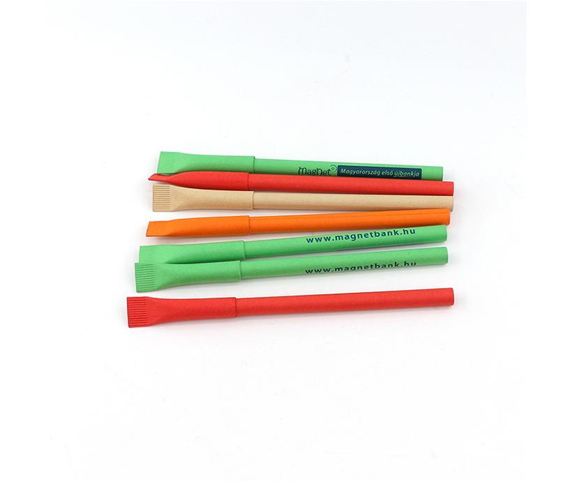 New Design Custom Logo Ballpoint Pen Eco-friendly Recyclable Paper Pen