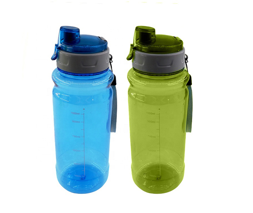 plastic travel tumbler with lid portable sports water bottle