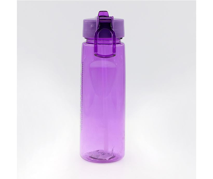 Promotion gift plastic tumbler with straw