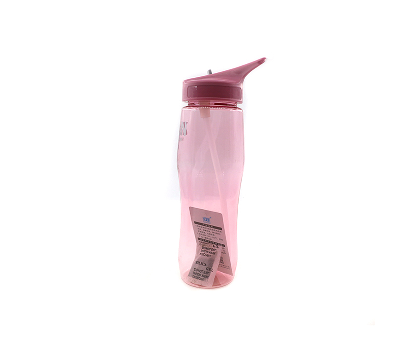 BPA free custom sports plastic water bottle with straw lid