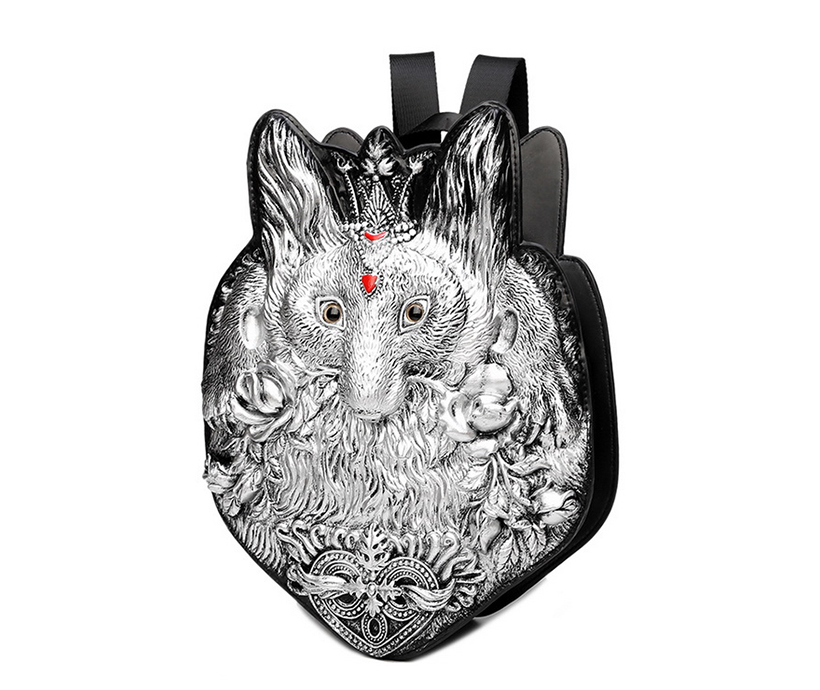 Punk Style 3D Fox Sports Leisure Korean Travel Pu Single-shoulder Male Personality Crossbody Breast Chest Messenger Bag