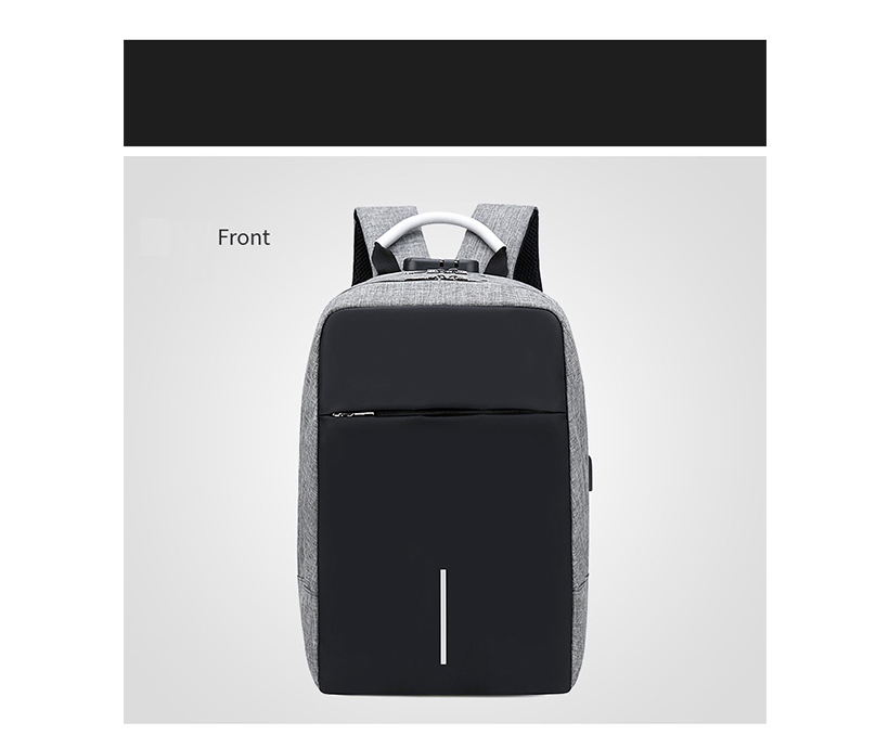 Wholesale new fashion backpack water resistant with usb college anti theft laptop school bag