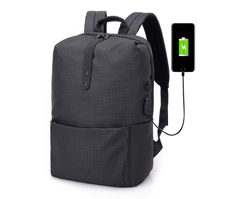 Casual Business Lightweight Laptop Bag USB Charging Large Capacity Travel Anti-theft Bag