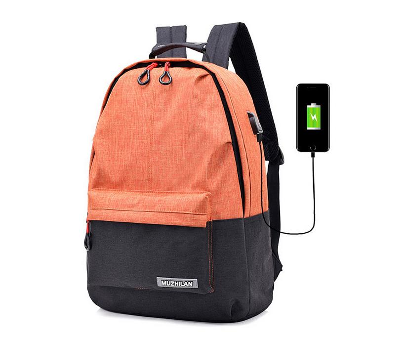High Quality Hot Sale Waterproof School Bagpack USB Charging Backpack Bag