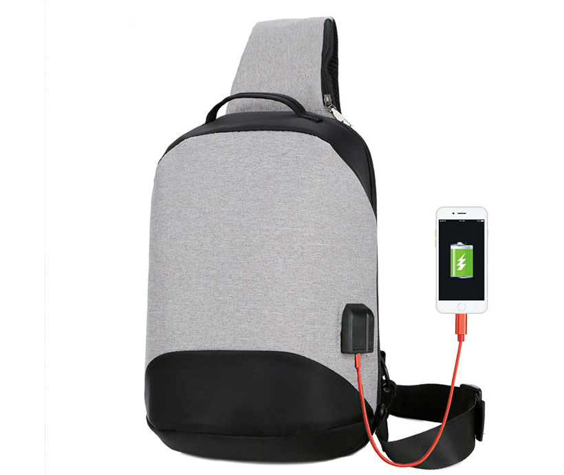 Customized Logo Wholesale Chest Bag USB Charging Anti-theft Chest Bag