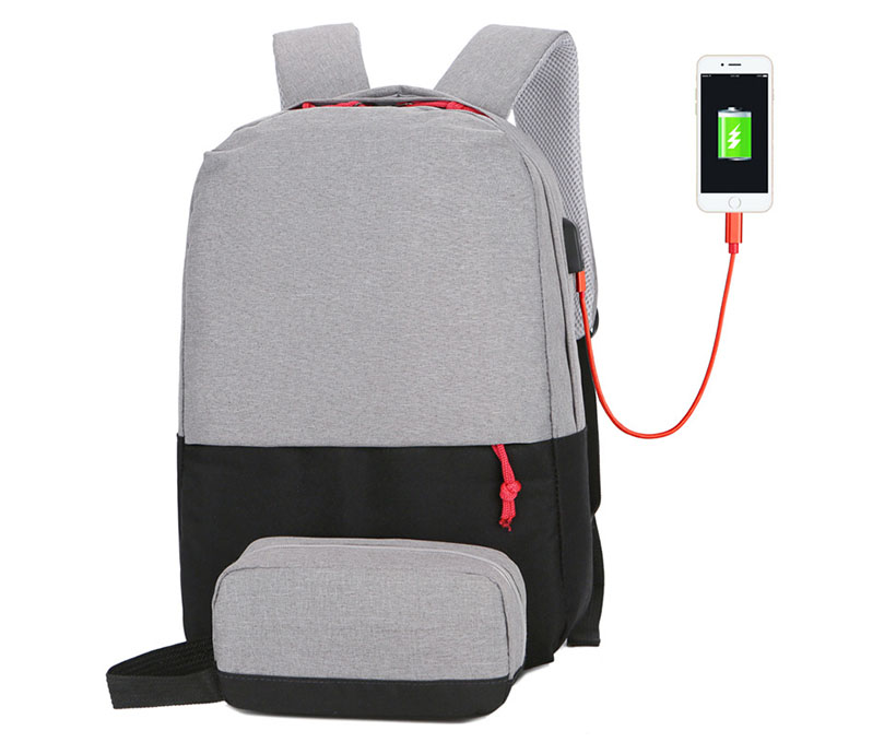 New Fashion School Backpack Business USB Charging Bag for 15inch Laptop Backpack