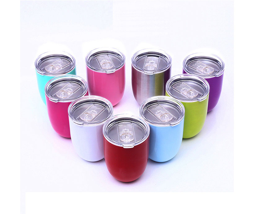 Tumbler Cups Steel Stemless 12 oz Double Wall Vaccum Insulation Wine Glass Tumbler