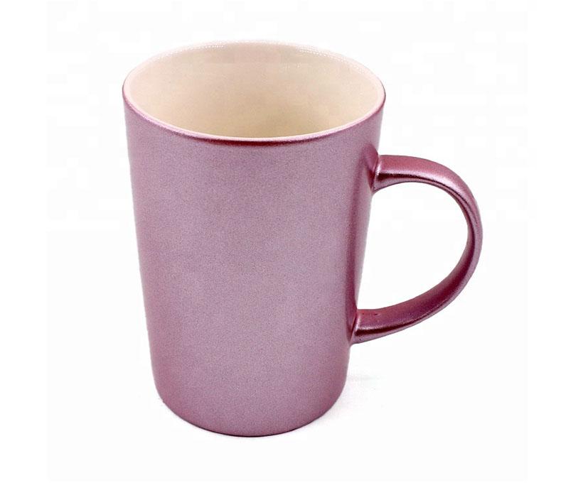 Heat transfer coating shiny cup Coating mug pearlescent shiny mug