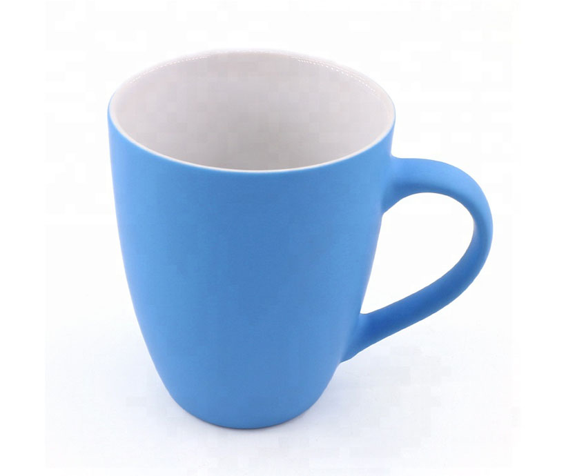 Candy color rubber coating cup Coating mug coffee cup custom