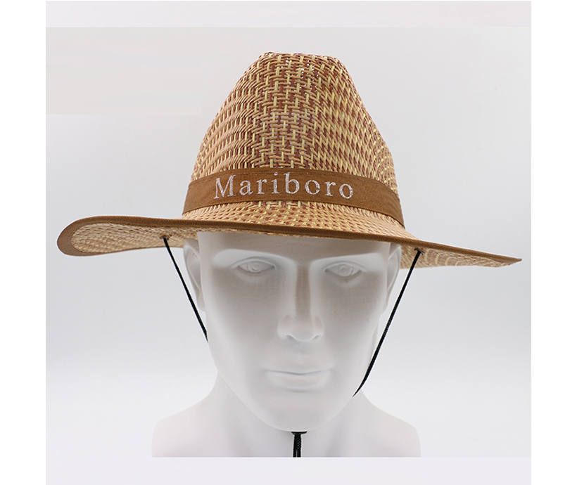 Wholesale Promotional China Manufacturer straw boater cowboy hat
