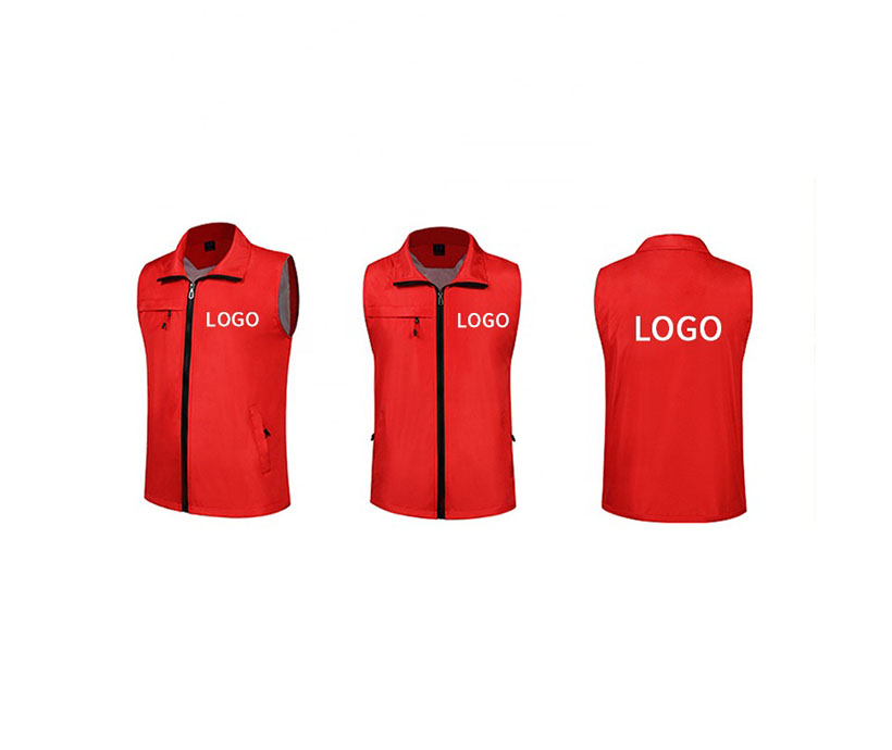 Promotion Cheap Polyester Advertising Work Waistcoat Vest